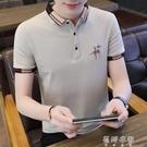 夏季男士短袖POLO衫休閑襯衣時尚韓版潮流修身襯衫男裝潮 蓓娜衣都
