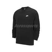 Nike 長袖T恤 NSW Club Crew 黑 白 男款 大學T 運動休閒 【ACS】 BV2667-010 BV2667-010