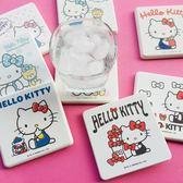 【三麗鷗獨家授權+SGS認證】Hello Kitty凱蒂貓繽紛彩繪珪藻土杯墊(一盒2入) | 蛋黃哥熊大迪士尼