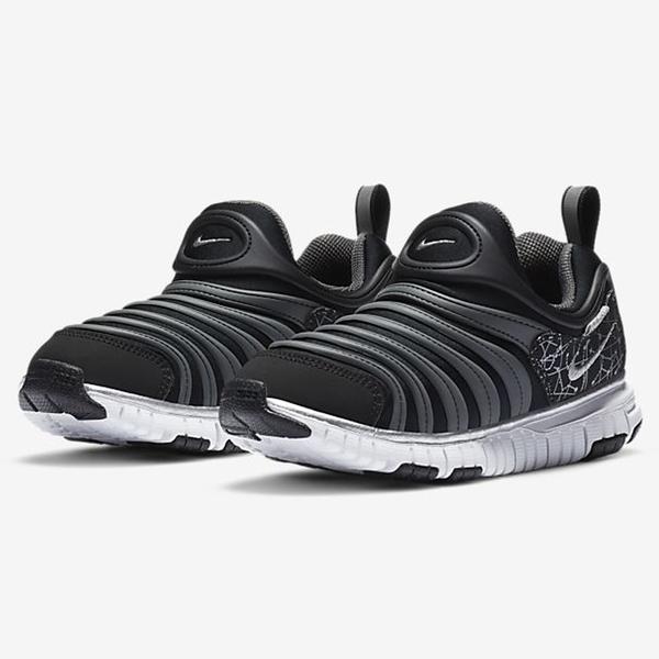 Nike Dynamo Free (TD) 童鞋 小童 休閒 毛毛蟲 星座印花 反光 黑銀【運動世界】DC3273-001