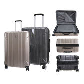 拉絲紋拉桿行李箱LK-8018-香檳(24吋)【愛買】