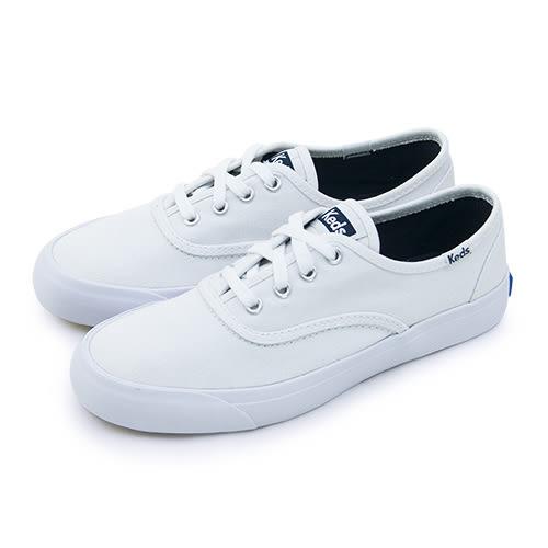 LIKA夢 Keds 時尚韓風經典款帆布鞋 TRIUMPH 28 系列 白 130029 女