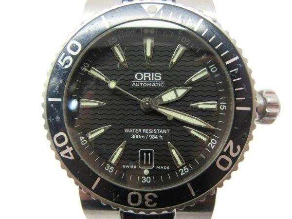 【特價20%OFF】ORIS Watch 矽膠錶帶金屬面帶淺水環男錶 【BRAND OFF】