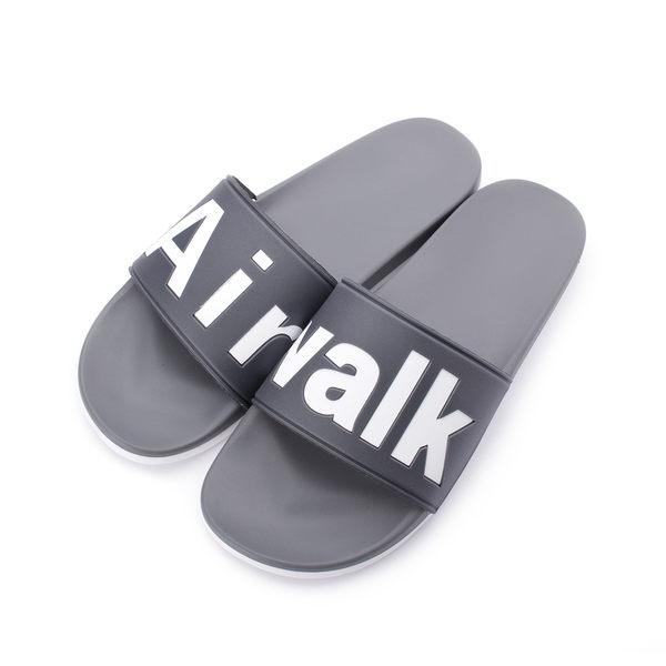 AIRWALK 大字LOGO套式拖鞋 灰 A825220310 男鞋 鞋全家福