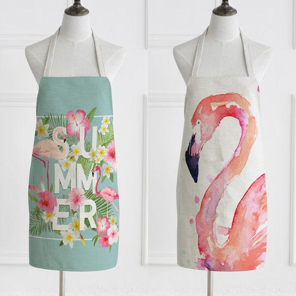 圍裙 - 情侶無袖布藝家居廚房烘焙圍裙廚師罩衣【快速出貨八折搶購】