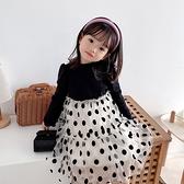 女童兒童設計感連衣裙秋季2020年洋氣新款公主裙森系長袖春秋韓版 童趣潮品