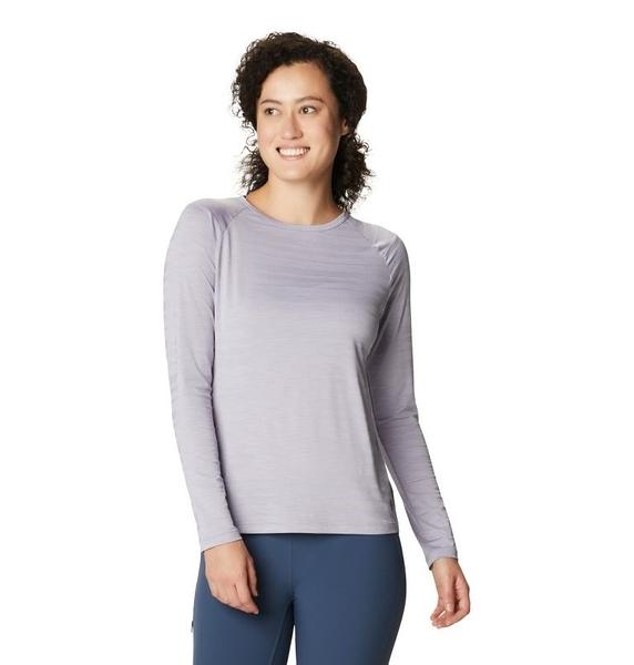 [好也戶外]Mountain Hardwear|Mighty Stripe™ Long Sleeve女防曬長袖排汗衣(兩色) No.1847661