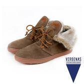 【VERBENAS】MARBELLA西班牙時尚造型毛飾短靴  咖啡( 034-BR)