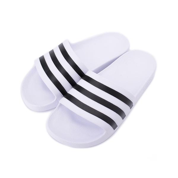ADIDAS ADILETTE AQUA 運動拖鞋 白黑 F35539 女鞋 鞋全家福