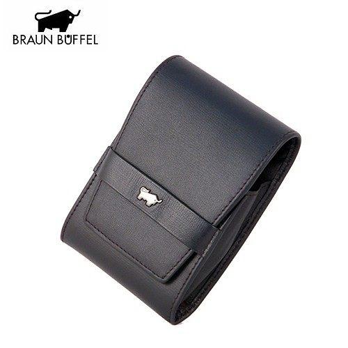 A0884《BRAUN BUFFEL》印信系列皮製菸盒 Cigarette Case(黑色)
