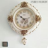 美式復古鐘表掛鐘客廳靜音壁鐘【洛麗的雜貨鋪】