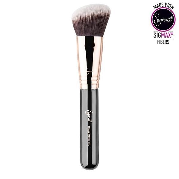 Sigma F84 - ANGLED KABUKI (銅環)【愛來客】美國Sigma經銷商 玫瑰金 粉底液刷 化妝刷
