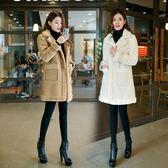 冬季新款羊羔毛外套女棉衣棉服寬鬆中長款大衣加厚鹿皮絨 萬客居