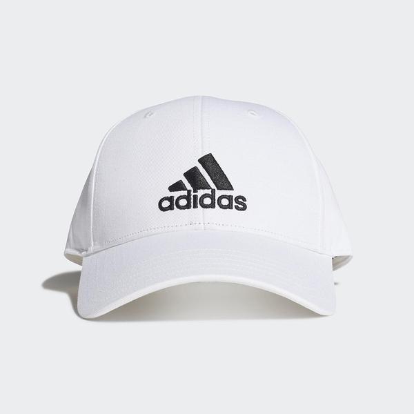 Adidas Bball Cap Cot [FK0890] 男女 老帽 鴨舌帽 棒球帽 六分割 經典款 防曬 白