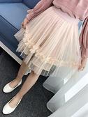 女童半身裙紗裙蓬蓬裙新款中長款兒童公主裙童裝大童洋 新年禮物