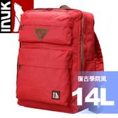 【INUK 加拿大 14L復古學院風休閒背包《紅》】IKB60614100040/後背包/背包★滿額送