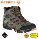 【MERRELL 美國 男 MOAB 2 LTR MID GORE-TEX登山鞋《原石色》】ML18421/健行鞋/登山