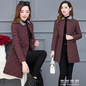 棉服女輕薄棉衣女中長款修身韓版大碼冬季外套棉襖子 可可鞋櫃