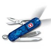 瑞士 維氏  Victorinox LED燈 7用 瑞士刀 透明握柄系列 0.6228.T2『透明藍』 露營│登山