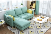 沙發北歐小戶型布藝沙發簡約現代雙三人服裝店鋪客廳組合整裝可拆洗JD 夏季上新