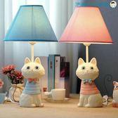 鐵尾貓咪兒童房檯燈臥室床頭燈LED【洛麗的雜貨鋪】