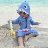 嬰兒寶寶防曬泳衣男童連身0小童1游泳衣2歲兒童3泳裝4可愛男孩男 依夏嚴選