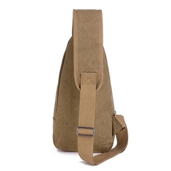 包包新款男士胸包帆布包斜背包男包單肩包胸前小背包休閒腰包 范思蓮恩
