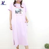 【春夏新品】American Bluedeer - 印花長版洋裝 二色
