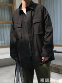 襯衫春季長袖襯衫男寬鬆大口袋ulzzang日系百搭休閒潮流工裝襯衣外套 初語生活