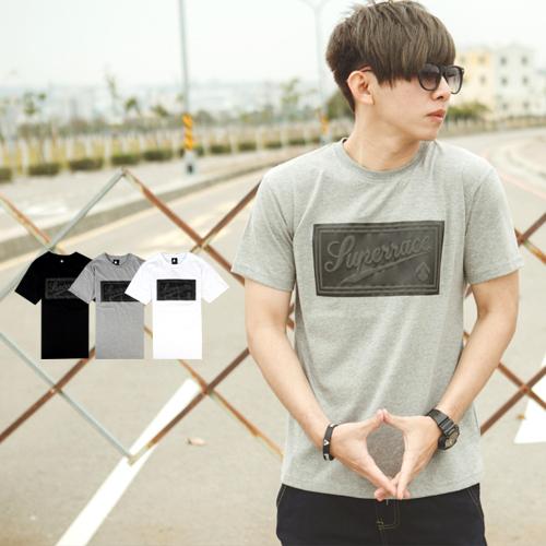T恤 低調質感立體發泡方框文字短T【NB0478J】