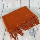 BRAND楓月 HERMES 愛馬仕 橘色圍巾 脖圍 毛料 保暖防寒
