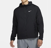 NIKE系列- AS M NK ESSNTL JKT HD 男款黑色風衣連帽運動外套- NO. CU5359010