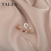 戒指 Talan日系輕奢羅馬數字食指戒指女ins潮網紅簡約時尚個性小眾指環 星河光年