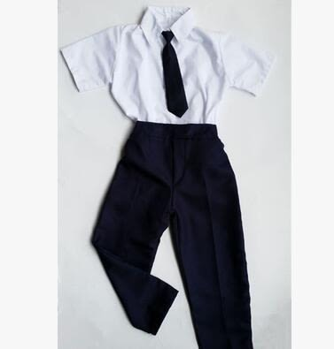 熊孩子☃幼兒園職業體驗館扮演服兒童演出服角色服裝(銀行圓 男長款)
