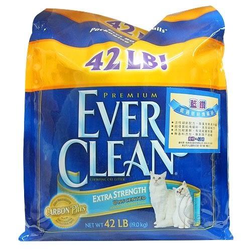 【培菓幸福寵物專營店】美國EVERCLEAN 》低過敏結塊貓砂(藍標)42lb免運費(補貨中)