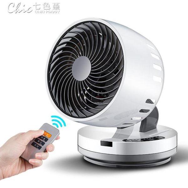 循環扇渦輪空氣對流扇日本電風扇家用台式扇靜音遙控定時「七色堇」YXS
