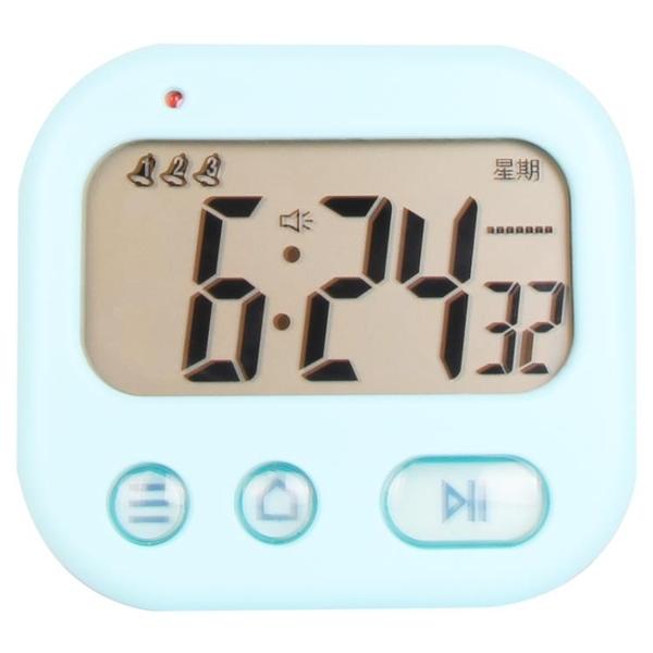多功能震動鬧鐘創意學生兒童鐘錶床頭靜音時鐘多組鬧錶工作日計時