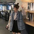 牛仔馬甲女春夏寬鬆日韓學生百搭bf原宿風工裝無袖坎肩馬夾外套潮  -炫科技