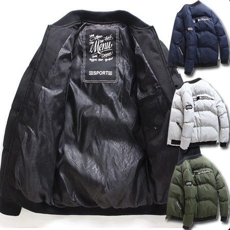 ※現貨 布標立領保暖防風鋪棉棒球外套/夾克/風衣 4色 M-4XL碼【CW434283】