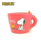 粉紅款【日本進口】史努比 Snoopy 咖啡杯 捏捏吊飾 吊飾 捏捏樂 軟軟 PEANUTS squishy 捏捏 - 620408