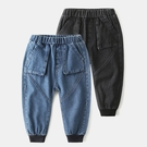 *╮小衣衫S13╭*男童帥氣剪裁立體口袋束腳牛仔褲1090931