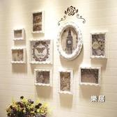 照片墻 歐式裝飾實木相片相框墻相冊框背景客廳創意掛墻組合免打孔JY【快速出貨】
