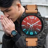 DIESEL 摩登炫彩三眼計時腕錶 DZ4482 熱賣中!