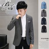 韓版素面紳士修身透氣西裝外套【NZ78822】