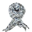 【南紡購物中心】ISSEY MIYAKE 三宅一生 PLEATS PLEASE 彩色斑紋四摺圍巾-藍黑