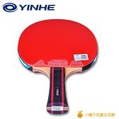 桌球拍五星乒乓球拍專業級兵乓球拍2單拍1只大學生乒乓球橫直拍【小橘子】