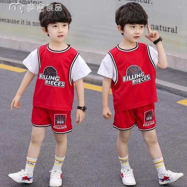 男童套裝兒童速乾衣夏裝套裝21新款韓版中大童短袖男童夏季運動服兩件套 快速出貨
