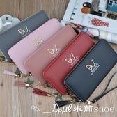 手拿包 長夾 時尚流蘇甜美蝴蝶長款拉鏈手提可放手機錢包錢夾 ✎﹏₯㎕ 米蘭shoe