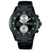 【僾瑪精品】SEIKO Spirit 科技時代黑潮 三眼計時碼錶-黑/41mm/7T92-0LF0SD(SBTQ091J)