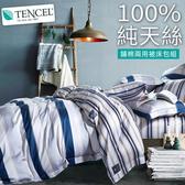【BELLE VIE】40支純天絲雙人床包兩用被四件組-夏蘭